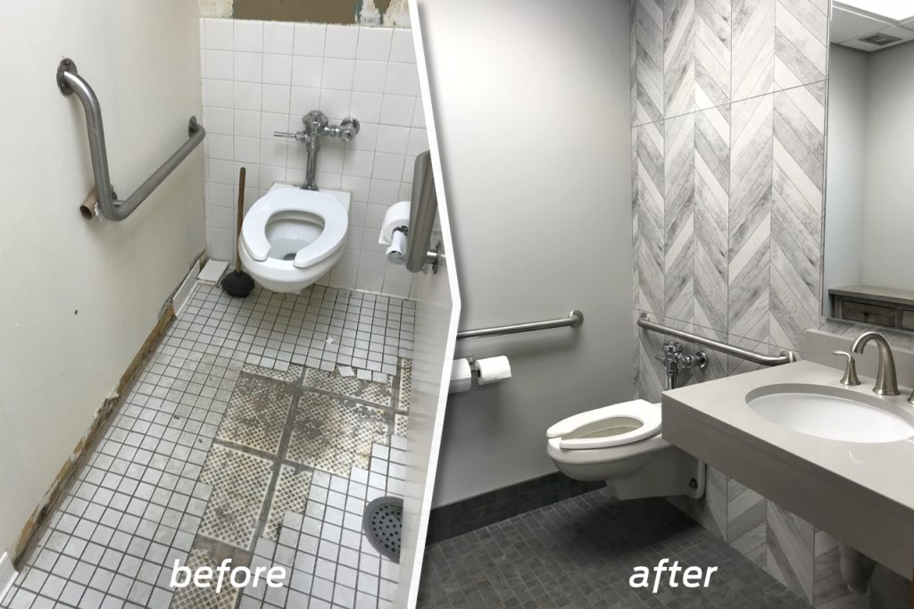 Picture of a bathroom remodel.